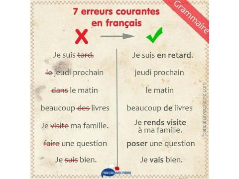 7 lỗi thường gặp trong tiếng Pháp & cách tránh