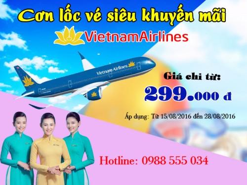 Khuyến mãi Vietnam airlines lớn nhất trong năm